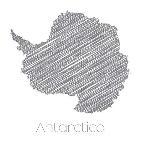 antarctica: A Map of the Continent of Antarctica