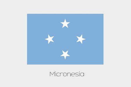 micronesia: A 180 Degree Rotated Flag of  Micronesia