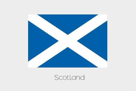 rotated: A 180 Degree Rotated Flag of  Scotland Stock Photo