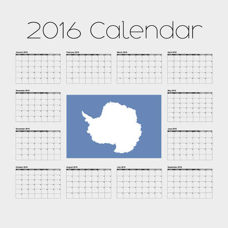 antartica: A 2016 Calendar with the Flag of Antartica