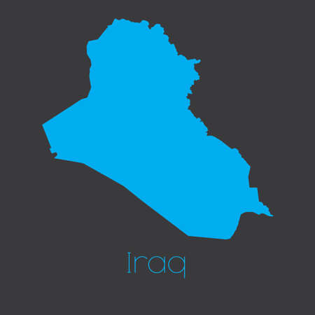iraq: A Map of the country of Iraq