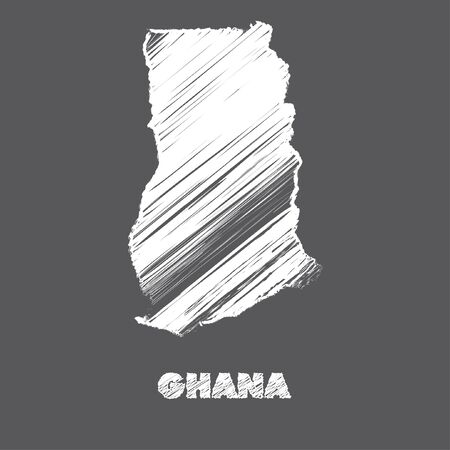 Ghana: A Map of the country of Ghana