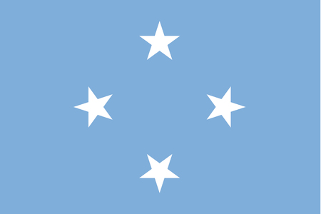 rotated: A 180 Degree Rotated Flag of  Micronesia