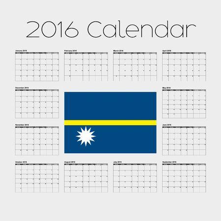 nauru: A 2016 Calendar with the Flag of Nauru