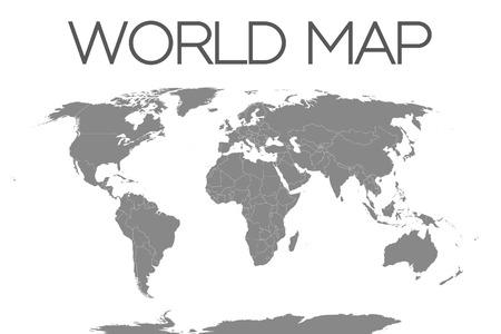 world maps: A World Map Isolated on White Background