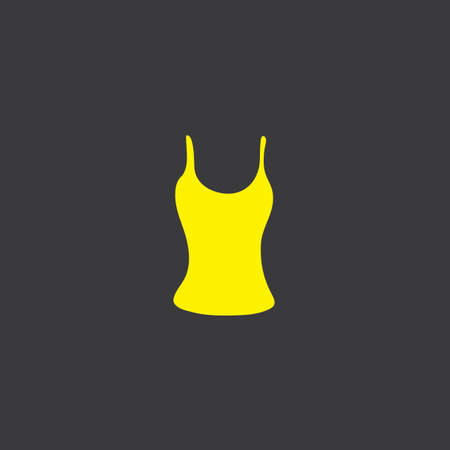 vest top: A Yellow Icon Isolated on a Grey Background, Vest Top