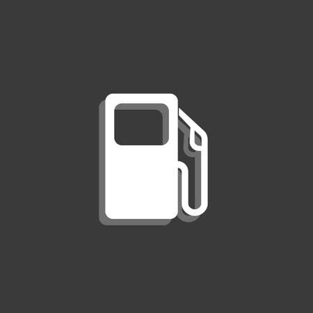 petrol pump: An Icon Isolated on a Grey Background - Petrol Pump