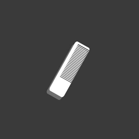 hairbrush: An Icon Isolated on a Grey Background - Hairbrush