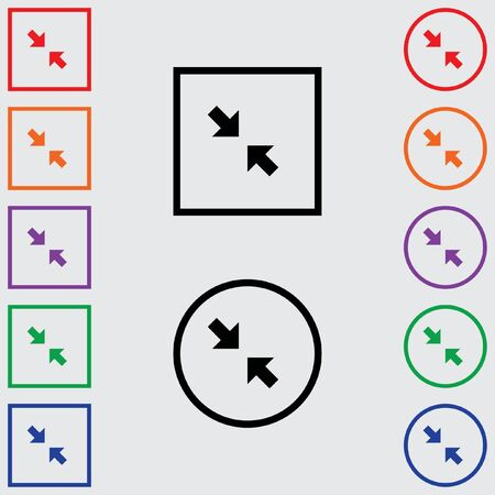 pinch: Illustrations of Multiple Coloured Square and Round Icons Isolated on a Grey Background - Pinch Stock Photo