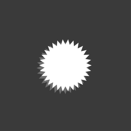 spikey: An Icon Isolated on a Grey Background - Spikey Circle