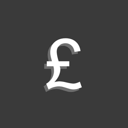 pound sign: An Icon Isolated on a Grey Background - Pound Sign Stock Photo