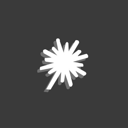thick: An Icon Isolated on a Grey Background - Explosion Thick Stock Photo