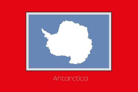 antartica: A Flag Illustration on a Red Background of the country of Antartica