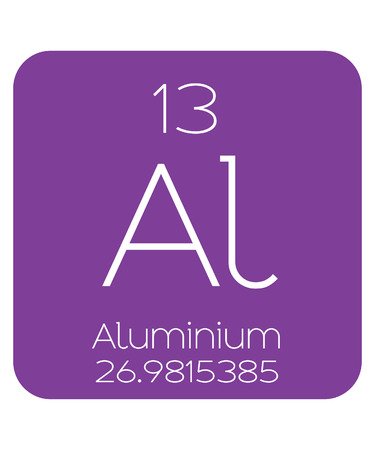 aluminium: The Periodic Table of the Elements Aluminium Stock Photo