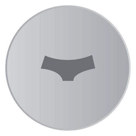 briefs: A Grey Icon Isolated on a Button with Grey Background - Womens Briefs