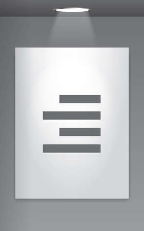align: A Grey Icon Isolated on Gallery Wall - Right Align