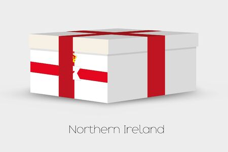 northern ireland: A Gift Box with the flag of Northern Ireland