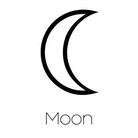 analogy: Illustrated Planet Symbols - Moon