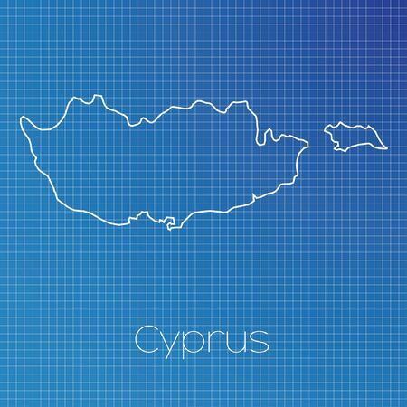 schematic: A Schematic outline of the country of Cyprus