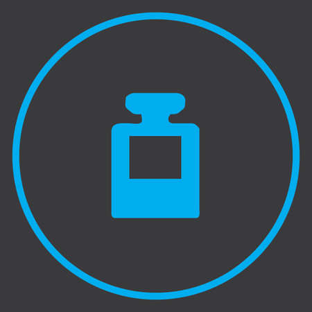 inkpot: A Blue Icon Isolated on a Grey Background inside a circle - InkPot