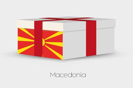 macedonia: A Gift Box with the flag of Macedonia Stock Photo