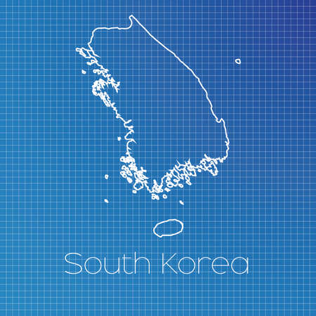 schematic: A Schematic outline of the country of South Korea