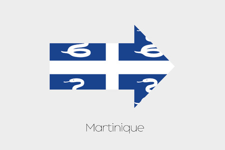 martinique: A Flag Illustration inside an arrow of the country of Martinique