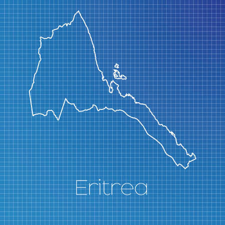 schematic diagram: A Schematic outline of the country of Eritrea Stock Photo