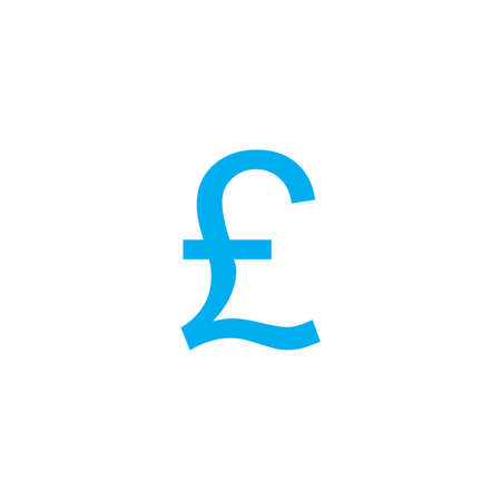 pound sign: A Blue Icon Isolated on a White Background - Pound Sign