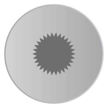spikey: A Grey Icon Isolated on a Button with Grey Background - Spikey Circle