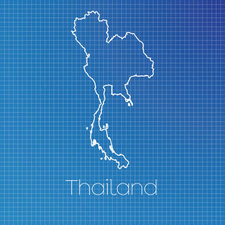 thailand symbol: A Schematic outline of the country of Thailand