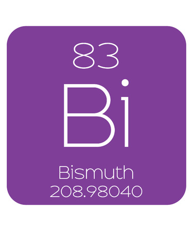 bismuth: The Periodic Table of the Elements Bismuth Stock Photo