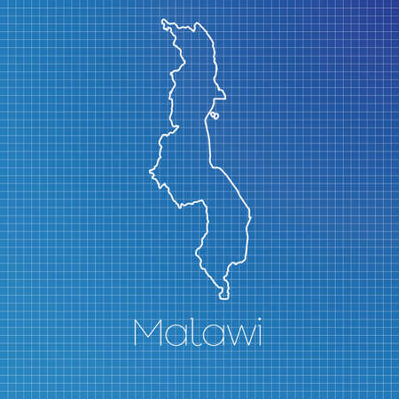 schematic: A Schematic outline of the country of Malawi