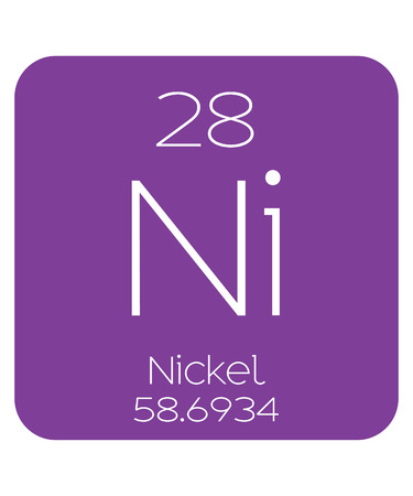 nickel: The Periodic Table of the Elements Nickel Stock Photo