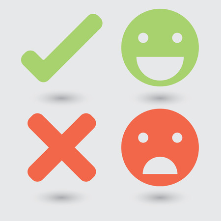 good or bad: Good bad symbols