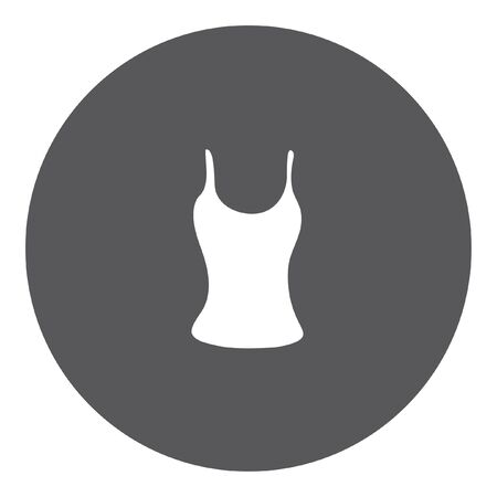 vest in isolated: A White Icon Isolated on a Grey Background - Vest Top