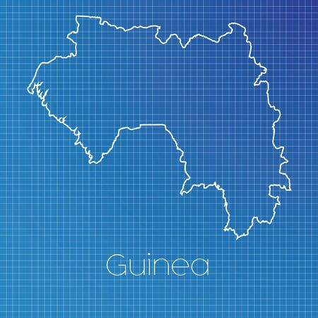 schematic: A Schematic outline of the country of Guinea