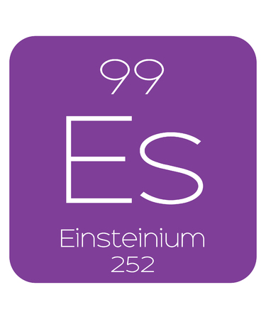 The Periodic Table Of The Elements Einsteinium Stock Photo Picture