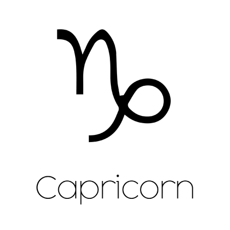 capricornio: Ilustrado del s�mbolo del zodiaco - Capricornio