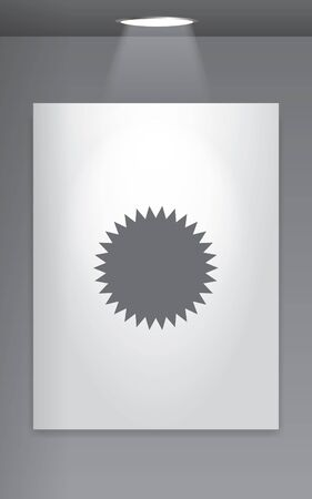 spikey: A Grey Icon Isolated on Gallery Wall - Spikey Circle