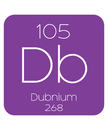 periodic table of the elements: The Periodic Table of the Elements Dubnium Stock Photo