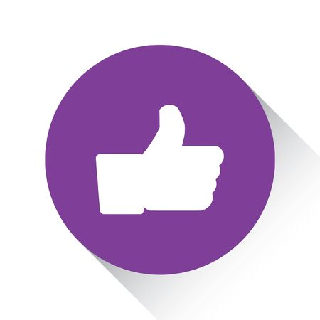 A Purple Icon Isolated on a White Background - Like