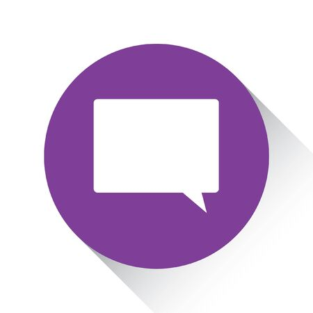 bubble background: A Purple Icon Isolated on a White Background - Speech Bubble Square