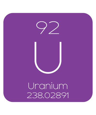 The Periodic Table Of The Elements Uranium Stock Photo Picture And