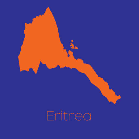 eritrea: A Map of the country of Eritrea