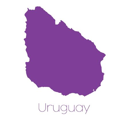 uruguay: A Map of the country of Uruguay