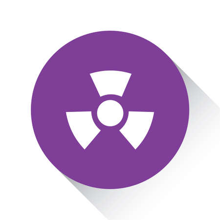 radio active: A Purple Icon Isolated on a White Background - Radio Active Round