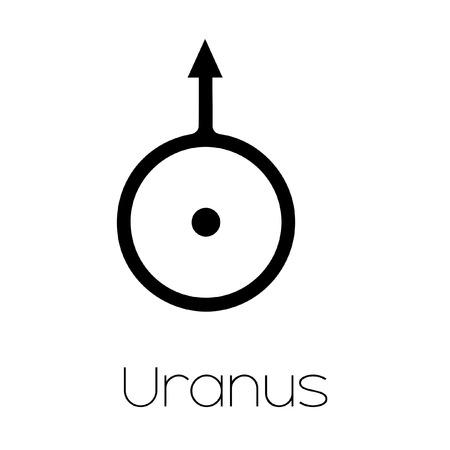 uranus: Illustrated Planet Symbols - Uranus