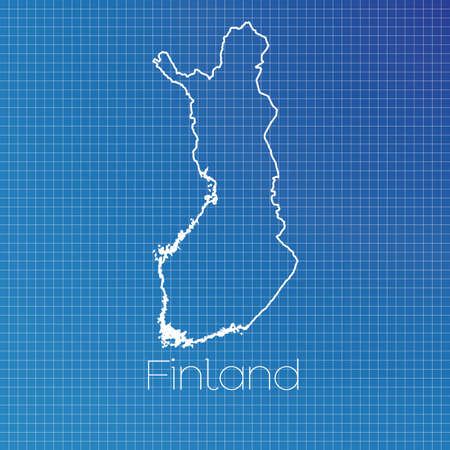 schematic: A Schematic outline of the country of Finland Stock Photo