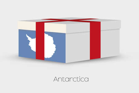 antartica: A Gift Box with the flag of Antartica Stock Photo